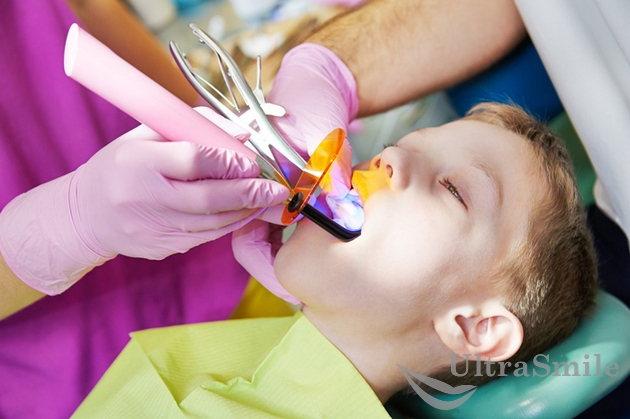 Лечение молочных зубов лазером