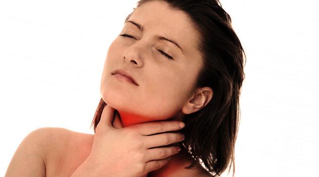 Болезненность горла - признак воспаления