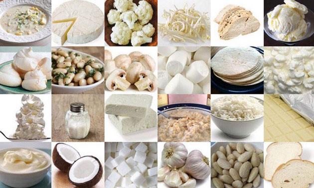 Разнообразие светлых продуктов