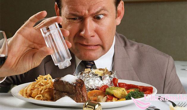злоупотребление соленой пищей